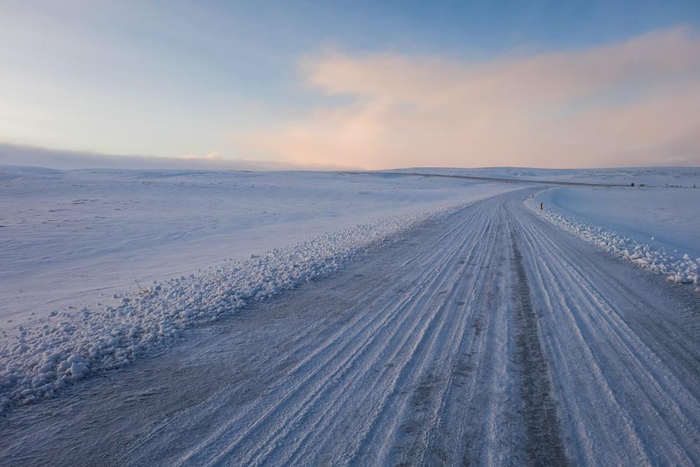 viaggio in Islanda strada ghiacciata