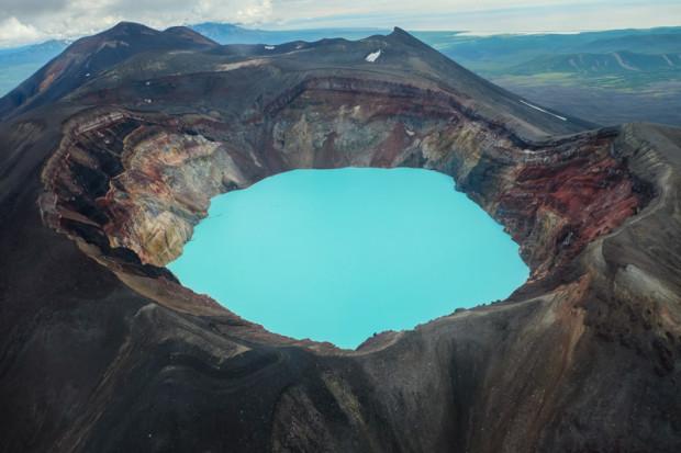 viaggio in Kamchatka vulcano lago