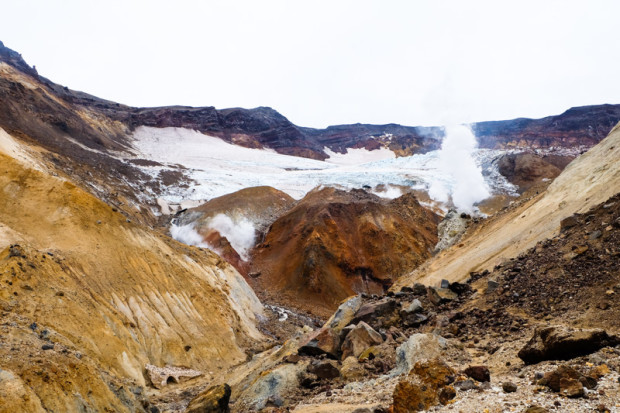 Kamchatka: caldera del vulcano Mutnovsky