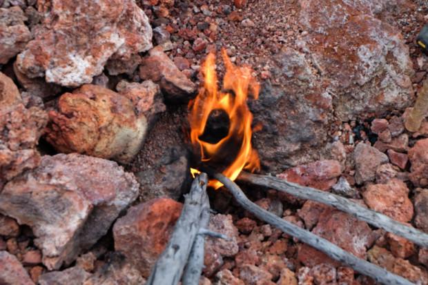 viaggio in Kamchatka fuoco