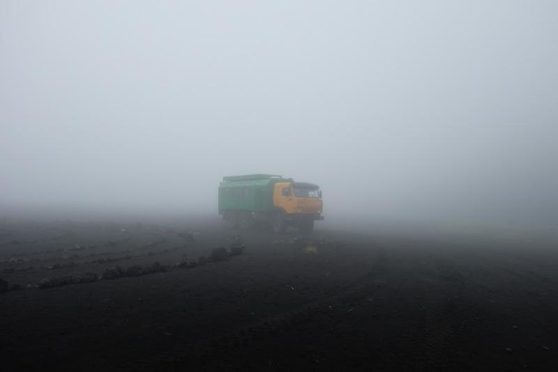 viaggio in Kamchatka nebbia