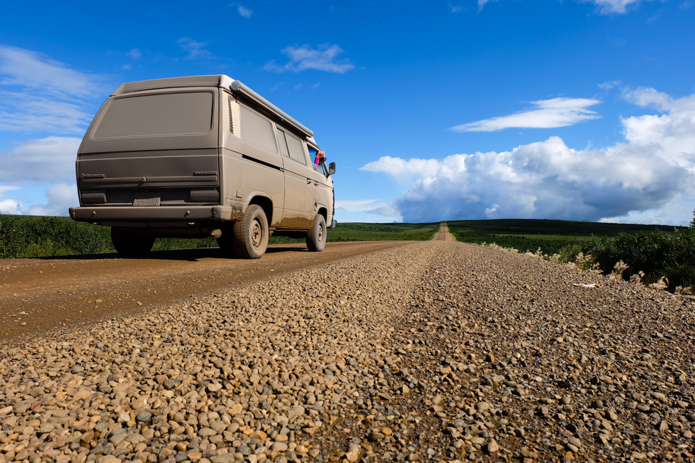 viaggio in canada dempster highway on the road