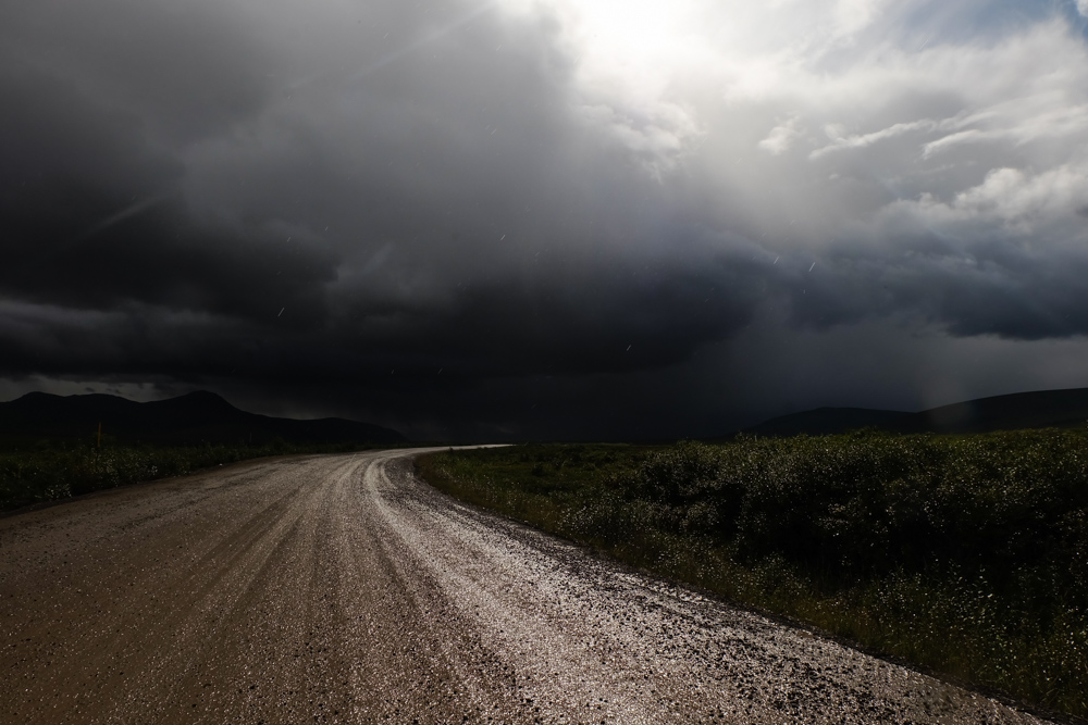 viaggio in canada dempster highway temporale