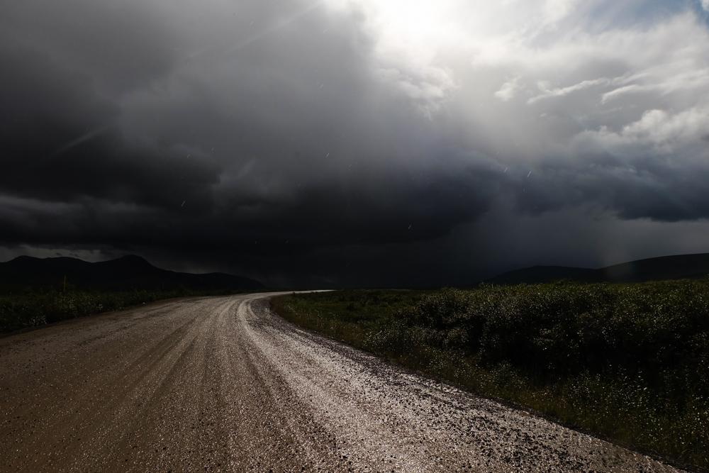 viaggio in canada dempster highway temporale