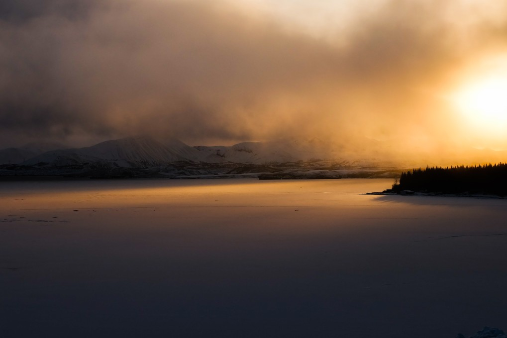 viaggio in islanda alba lago ghiacciato