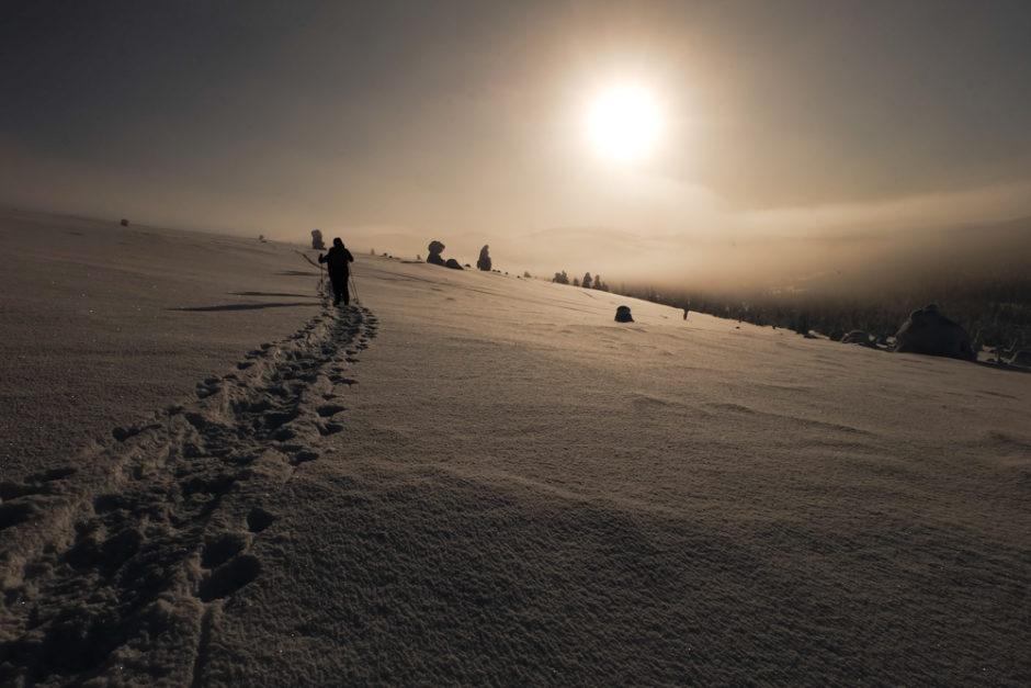 viaggio inverno lapponia pallas yllastunturi racchette da neve libri di viaggio lapponia finlandia