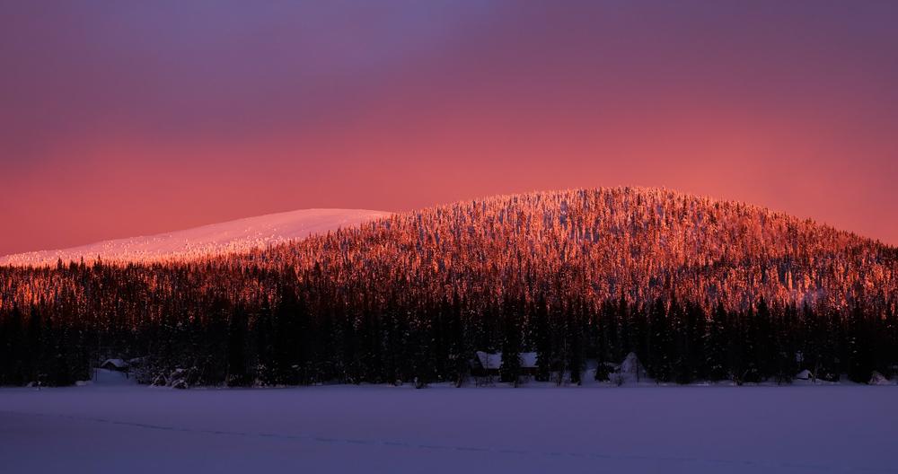viaggio inverno lapponia pallas yllastunturi tramonto