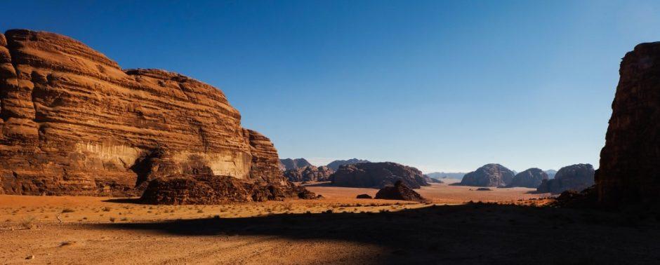 wadi rum deserto giordania ombre